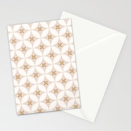 minimalist moroccan tile pattern  Stationery Cards
