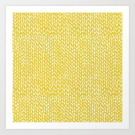 Hand Knit Yellow Art Print