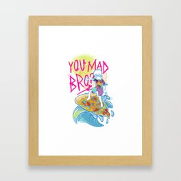 bro. Framed Art Print
