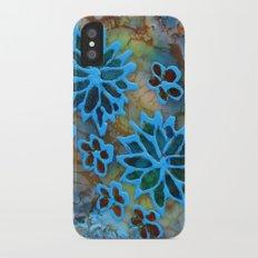 Happy flowers iPhone X Slim Case