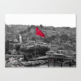 Flag of Turkey POP Canvas Print