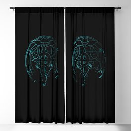fullmetal alchemist blue Blackout Curtain