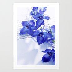 POEM AND FLOWER Art Print