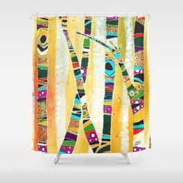 Runk Trees Shower Curtain