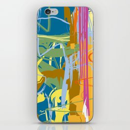 Web Maze | Pastel Abstract Art | Abstract art Prints iPhone Skin