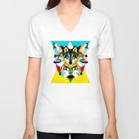 wolves V-neck T-shirts featuring wolves by Alvaro Tapia Hidalgo