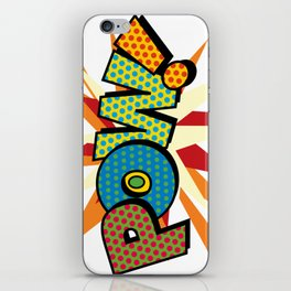 Comic Book Pop Art Sans POW! iPhone Skin