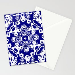 CA Fantasy Deep Blue-White series #2 Stationery Cards