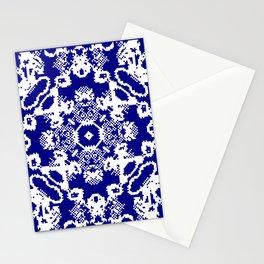 CA Fantasy Deep Blue-White series #2 Stationery Cards