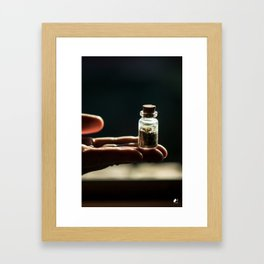 In the Palm of Your Hands - Micro Terrarium Framed Art Print