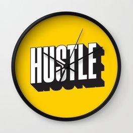 Hustle Pop Art Wall Clock