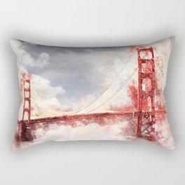 Watercolor Golden Gate Rectangular Pillow