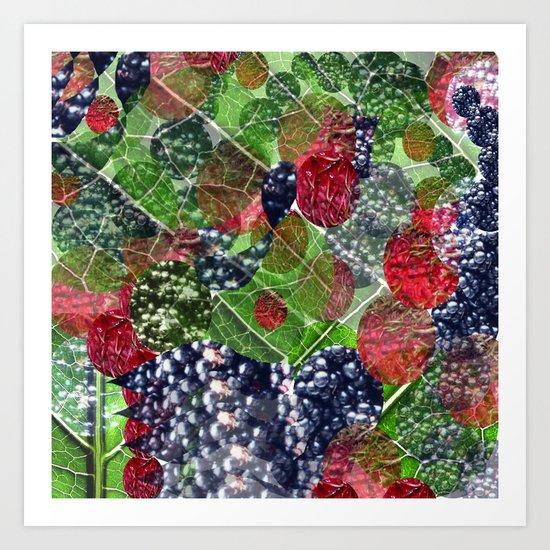 mixture of nature Art Print