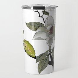 Magnolia and Tree Frog Travel Mug