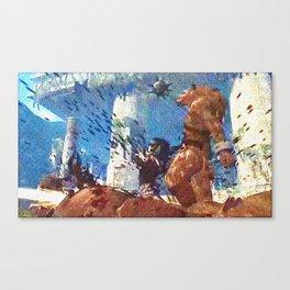 Killing werewolf Canvas Print