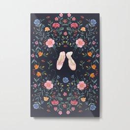 Ballet pointe shoes Metal Print