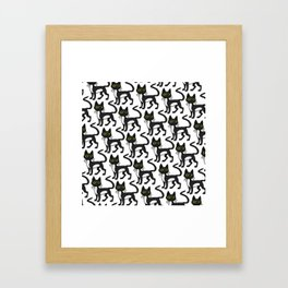 Quirky Cat (pattern) Framed Art Print