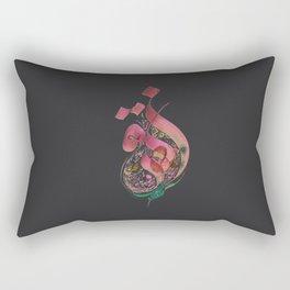 Flower in Arabic Rectangular Pillow