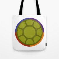 ninja turtle Tote Bags featuring Ninja Turtle by R. Cuddi