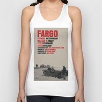fargo Tank Tops featuring Fargo Movie Poster  by FunnyFaceArt