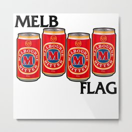 Melbournes Burning Metal Print