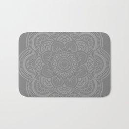 Gray Mandala Bath Mat