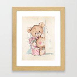 Bear in The Room Framed Art Print