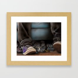 Dust Bunnies Framed Art Print