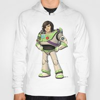 buzz lightyear Hoodies featuring Woody Lightyear (colour) by Other People's Characters