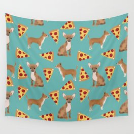 chihuahua pizza dog lover pet gifts cute pure breed chihuahuas Wall Tapestry