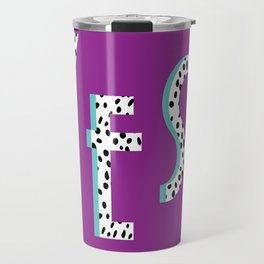 YES Poster | Purple Dalmatian Pattern Travel Mug