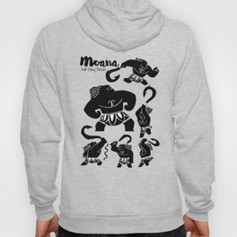 Moana, Animated Movie Poster, Oceania, Vaiana, minimal, alternative, film, playbill, 3D cartoon Hoody
