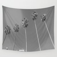 palms Wall Tapestries featuring Palms by miiish