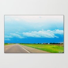 The cloudy Road Canvas Print