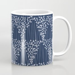 Dots + Stripes - Indigo Coffee Mug