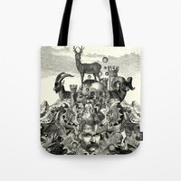 wizard Tote Bags featuring Wizard by DIVIDUS