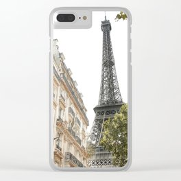 Eiffel tower architecture Clear iPhone Case