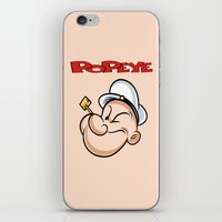 popeye iPhone & iPod Skins featuring popeye by store2u