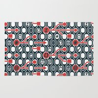 geek Area & Throw Rugs featuring Geek spirit by Chicca Besso