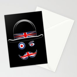 British Flag Face. Stationery Cards