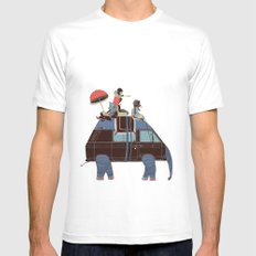 Going by Elephant White Mens Fitted Tee MEDIUM