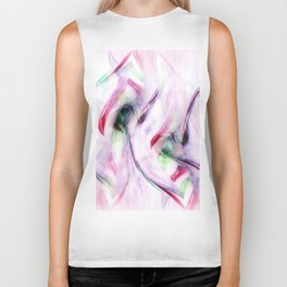 Candy Cane Abstract Biker Tank