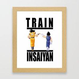 Train Insaiyan - Goku & Vegeta Framed Art Print