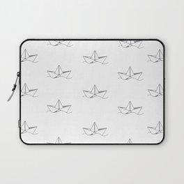Paper Boat Pattern Laptop Sleeve