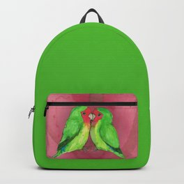 Peach faced lovebirds Backpack