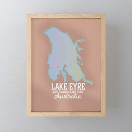 Lake Eyre Australia map poster Framed Mini Art Print