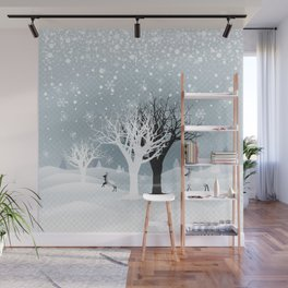 Winter Holiday Fairy Tale Fantasy Snowy Forest Collection Wall Mural