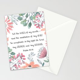 Let the Words of my Mouth-Ps 19:14 Stationery Cards