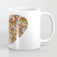breakfast Mugs featuring Breakfast by Julia Emiliani