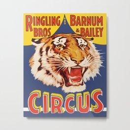 Circus Poster Metal Print
